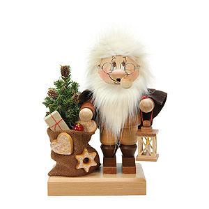 Räuchermänner Weihnachtsmänner Räuchermännchen Wichtel Weihnachtsmann mit Sack - 26,5 cm