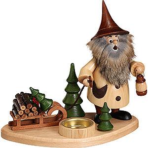 Räuchermänner Hobbies Räuchermännchen Wichtel mit Teelicht und Schlitten - 19cm