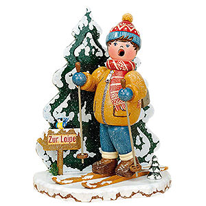 Räuchermänner Hobbies Räuchermänner Winterkind Schneeschuhfahrer - 20 cm