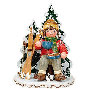 Räuchermänner Hobbies Räuchermänner Winterkind Schneeschuhfahrerin - 20cm