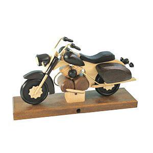Räuchermänner Hobbies Räuchermotorrad Chopper schwarz 27 x 18 x 8 cm