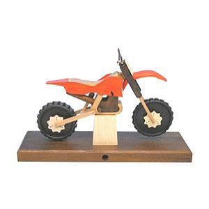 Räuchermänner Hobbies Räuchermotorrad Cross 27 x 18 x 8 cm