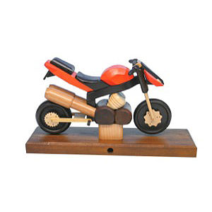 Räuchermänner Hobbies Räuchermotorrad Sport orange 27 x 18 x 8 cm