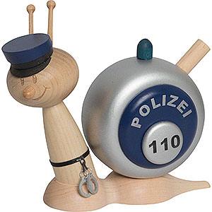 Räuchermänner Berufe Räucherschnecke Sunny Polizeischnecke - 16cm