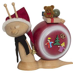 Räuchermänner Weihnachtsmänner Räucherschnecke Sunny Weihnachtsschnecke - 16cm