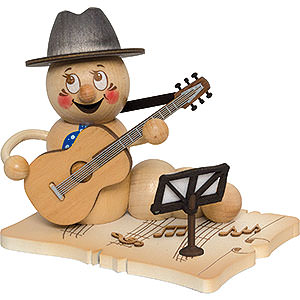 Räuchermänner Berufe Räucherwurm Gitarrenspieler Rudi - 14 cm