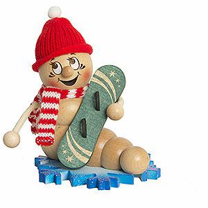 R�ucherm�nner Hobbies R�ucherwurm Snowboard Rudi - ca. 14cm