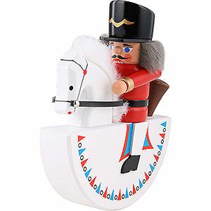 Nussknacker Soldaten Reiterlein Husar rot - 14cm