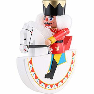 Nussknacker Könige Reiterlein König, rot - 26 cm