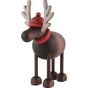 Kleine Figuren & Miniaturen Björn Köhler Weihnachtsfrauen kl. Rentier Rudolf stehend - 12 cm