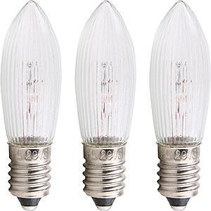 Lichterwelt Ersatzlampen Riffelkerze - Sockel E10 - 14V/3W