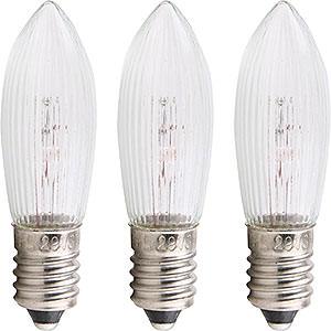Lichterwelt Ersatzlampen Riffelkerze - Sockel E10 - 19V/3W