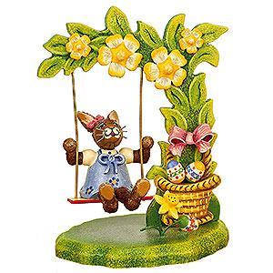 Kleine Figuren & Miniaturen Tiere Hasen Sabinchens Blumenschaukel - 11cm