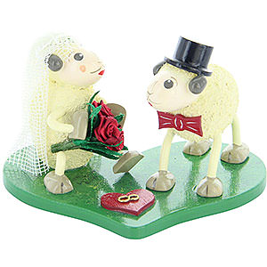 Kleine Figuren & Miniaturen Tiere Schafe Schafbrautpaar