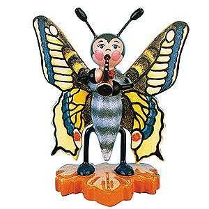 Kleine Figuren & Miniaturen Tiere Käfer Schmetterling Schwalbenschwanz-Flöte - 8cm
