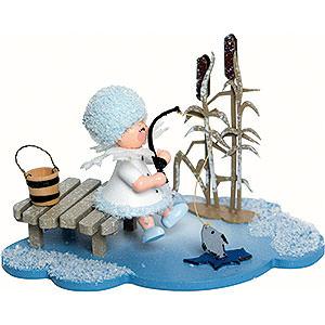 Kleine Figuren & Miniaturen Kuhnert Schneeflöckchen Schneeflöckchen Eisangler - 10x7x6cm