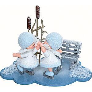 Kleine Figuren & Miniaturen Kuhnert Schneeflöckchen Schneeflöckchen Eiskunstpaar - 10x7x6cm