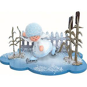 Kleine Figuren & Miniaturen Kuhnert Schneeflöckchen Schneeflöckchen Schlittschuhfahrer - 10x7x6cm