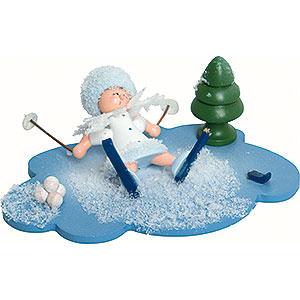 Kleine Figuren & Miniaturen Kuhnert Schneeflöckchen Schneeflöckchen Skiunfall - 10x7x6cm
