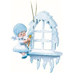 Christbaumschmuck Kuhnert Schneeflöckchen Schneeflöckchen am Fenster - 7x7x4cm