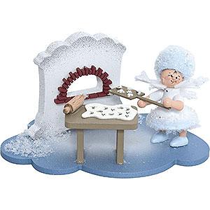 Kleine Figuren & Miniaturen Kuhnert Schneeflöckchen Schneeflöckchen in Weihnachtsbäckerei - 10x7x6cm