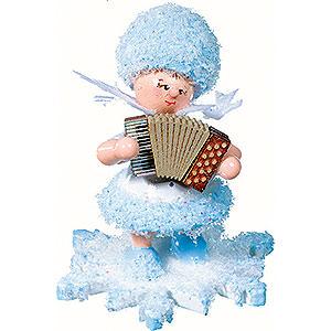 Kleine Figuren & Miniaturen Kuhnert Schneeflöckchen Schneeflöckchen mit Akkordeon - 5cm