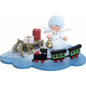 Kleine Figuren & Miniaturen Kuhnert Schneeflöckchen Schneeflöckchen mit Eisenbahn - 10x7x6 cm