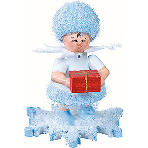 Kleine Figuren & Miniaturen Kuhnert Schneeflöckchen Schneeflöckchen mit Geschenkpäckchen- 5cm