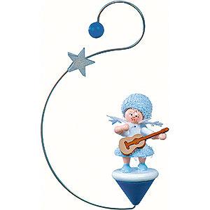 Christbaumschmuck Kuhnert Schneeflöckchen Schneeflöckchen mit Gitarre- 12x7x3cm