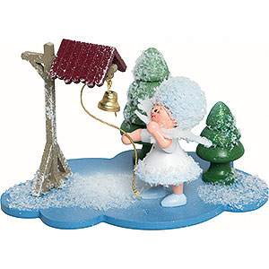 Kleine Figuren & Miniaturen Kuhnert Schneeflöckchen Schneeflöckchen mit Glocke- 10x7x6cm