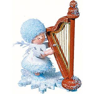 Kleine Figuren & Miniaturen Kuhnert Schneeflöckchen Schneeflöckchen mit Harfe - 5cm