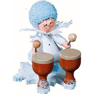 Kleine Figuren & Miniaturen Kuhnert Schneeflöckchen Schneeflöckchen mit Kesselpauke - 5cm