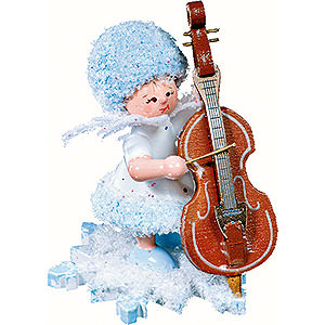 Kleine Figuren & Miniaturen Kuhnert Schneeflöckchen Schneeflöckchen mit Kontrabass - 5cm