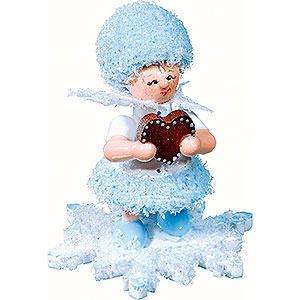 Kleine Figuren & Miniaturen Kuhnert Schneeflöckchen Schneeflöckchen mit Lebkuchenherz- 5cm