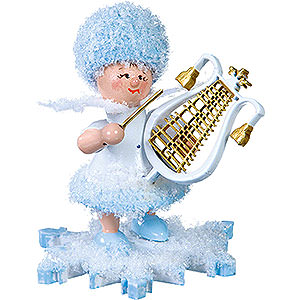 Kleine Figuren & Miniaturen Kuhnert Schneeflöckchen Schneeflöckchen mit Lyra - 5cm