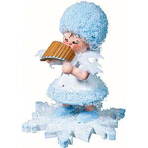 Kleine Figuren & Miniaturen Kuhnert Schneeflöckchen Schneeflöckchen mit Panflöte - 5 cm