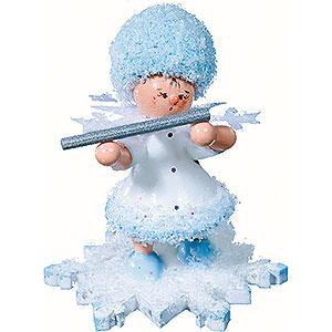 Kleine Figuren & Miniaturen Kuhnert Schneeflöckchen Schneeflöckchen mit Querflöte - 5cm