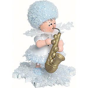 Kleine Figuren & Miniaturen Kuhnert Schneeflöckchen Schneeflöckchen mit Saxophon - 5cm