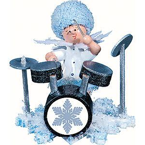 Kleine Figuren & Miniaturen Kuhnert Schneefl�ckchen Schneefl�ckchen mit Schlagzeug - 5cm