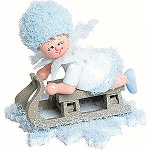 Kleine Figuren & Miniaturen Kuhnert Schneeflöckchen Schneeflöckchen mit Schlitten - 5 cm