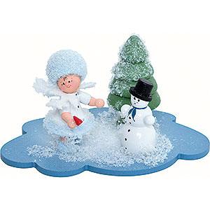 Kleine Figuren & Miniaturen Kuhnert Schneeflöckchen Schneeflöckchen mit Schneemann - 10x7x6cm