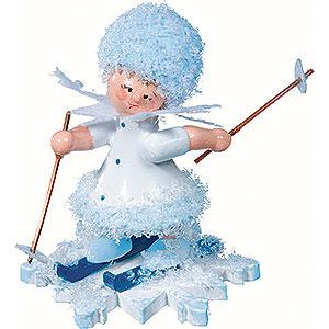 Kleine Figuren & Miniaturen Kuhnert Schneeflöckchen Schneeflöckchen mit Ski - 5cm