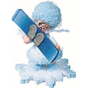 Kleine Figuren & Miniaturen Kuhnert Schneeflöckchen Schneeflöckchen mit Snowboard - 5cm