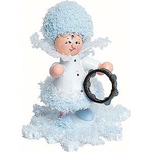 Kleine Figuren & Miniaturen Kuhnert Schneeflöckchen Schneeflöckchen mit Tamburin - 5 cm