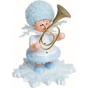 Kleine Figuren & Miniaturen Kuhnert Schneeflöckchen Schneeflöckchen mit Tenorhorn - 5 cm