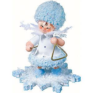 Kleine Figuren & Miniaturen Kuhnert Schneeflöckchen Schneeflöckchen mit Triangel - 5cm