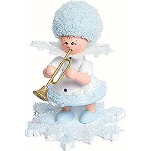 Kleine Figuren & Miniaturen Kuhnert Schneeflöckchen Schneeflöckchen mit Trompete - 5cm