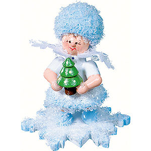 Kleine Figuren & Miniaturen Kuhnert Schneeflöckchen Schneeflöckchen mit Weihnachtsbaum - 5cm