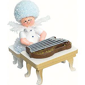 Kleine Figuren & Miniaturen Kuhnert Schneeflöckchen Schneeflöckchen mit Zither - 5cm