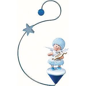 Christbaumschmuck Kuhnert Schneeflöckchen Schneeflöckchen mit kleiner Harfe- 12x7x3cm